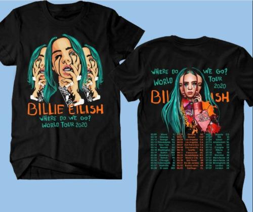 Billie Eilish T-shirt Where Do We Go World Tour 2020 Pop Music Tee US shirt for