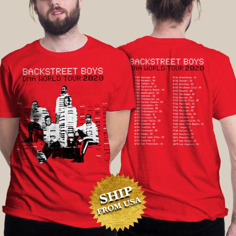 Backstreet Boys t Shirt DNA World Tour 2020 T-Shirt Size M-2XL Men Red tee