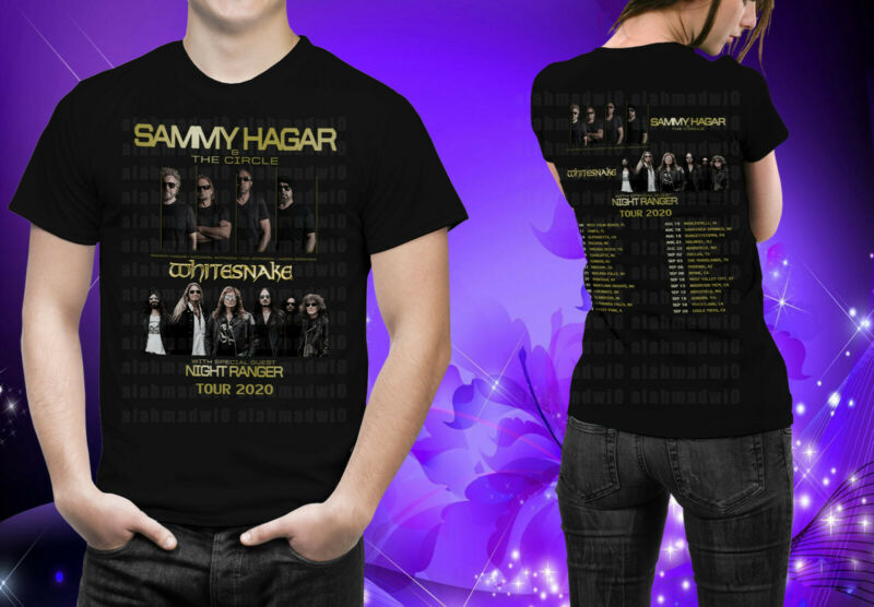 Sammy Hagar & The Circle with Whitesnake w guests Night Ranger Tour 2020 Tshirt