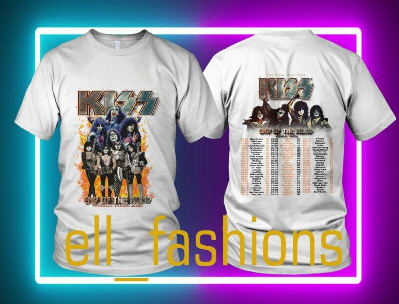 KISS End Of The Road World Tour 2020 Leg 5 - 8 Complete Dates Concert Size S-2XL