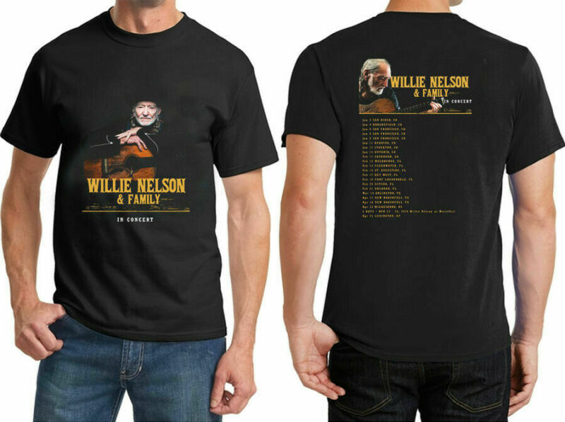 NEW 8849-Willie Nelson 2020 Family Tour Casual Wear T Shirt Size S-5XL