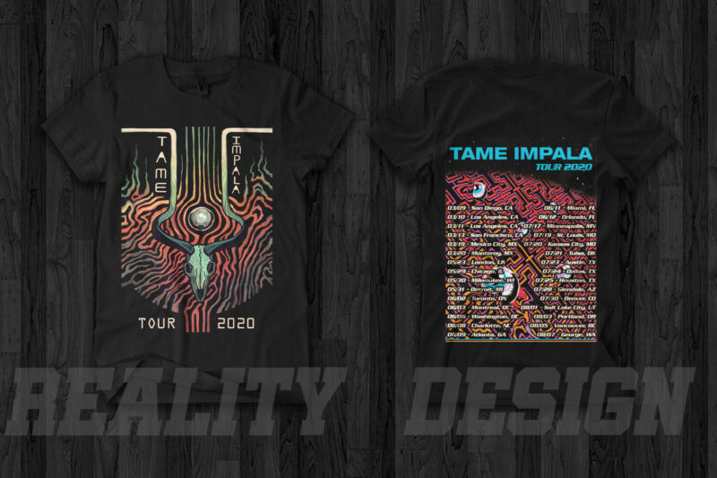 Tame Impala Tour 2020 Merch T-Shirt Music Concert MGMT  Clairo & Perfume Genius /Tame-Impala-Tour-2020-Merch-T-Shirt-Music-Concert-184176182611.html