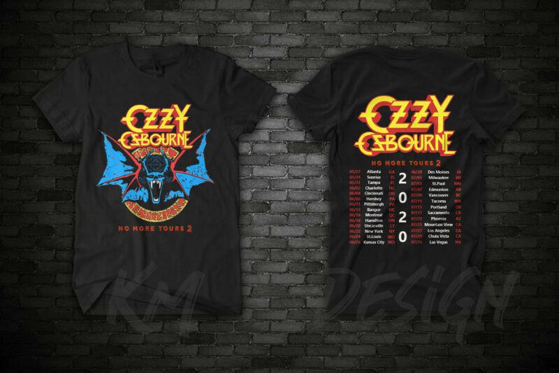 Ozzy Osbourne tour date t Shirt 2020 No More Tours 2 T-Shirt gildan
