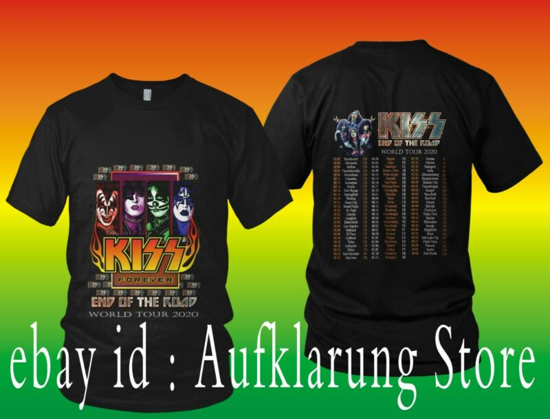new KISS T-shirt End Of The Road World Tour 2020 Complete Dates Concert