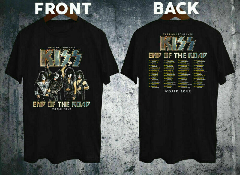 KISS END OF THE ROAD TOUR 2020 FINAL TOUR MENS T-shirt size S - 3XL