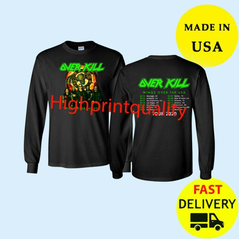 Overkill Shirt Tour 2020 Long Black Mens T-Shirt Gift Size M-3XL