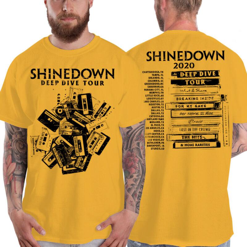 Shinedown T-Shirt Deep Dive Tour 2020 Grunge Rock Unisex T Shirt S-4XL