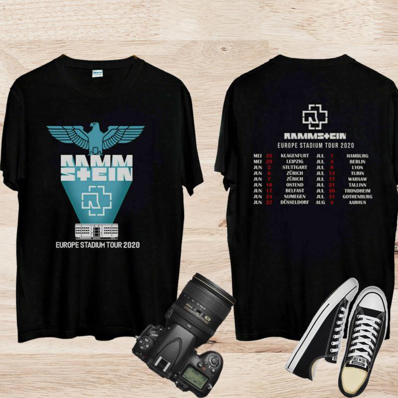 Rammstein Europe Stadium Tour 2020 Dates T-Shirt Size S - 3XL