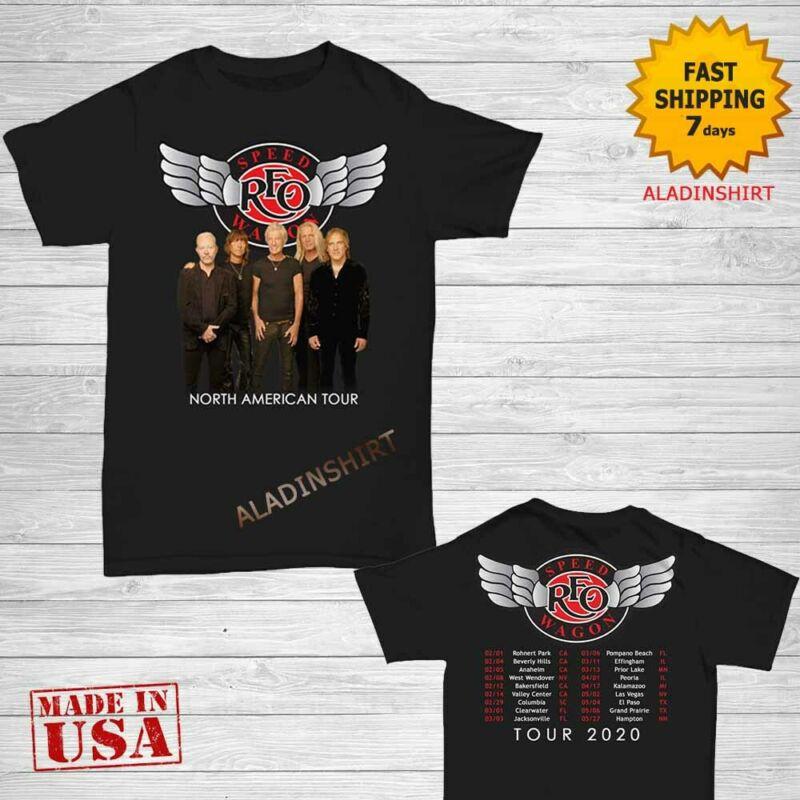 Reo Speedwagon North American Tour 2020 T-Shirt size Men Black M-2XL
