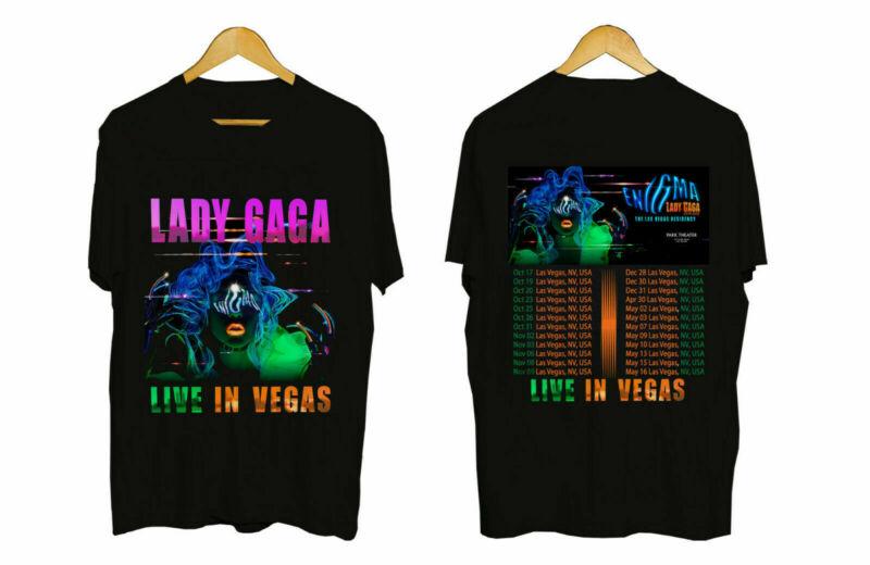 Lady Gaga Enigma Concert US Tour 2019-2020 Concert Merch T-Shirt S-5XL