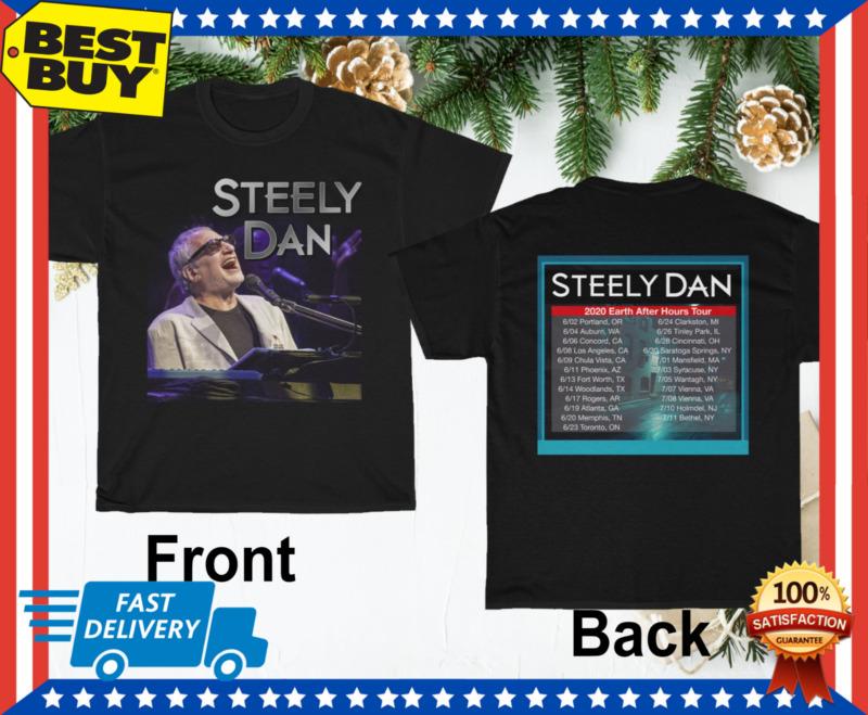 Steely Dan Shirt Tour 2020 T-Shirt Black Mens Tee Regular Size M-3XL