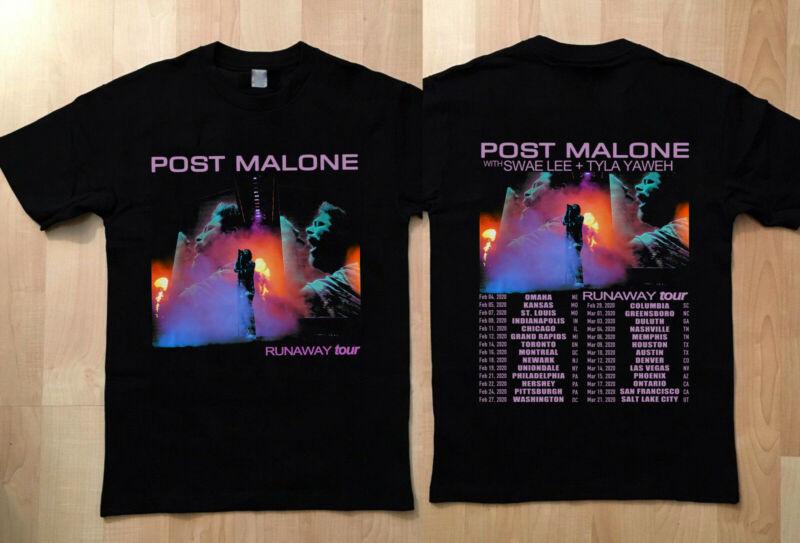 HOT! POST MALONE Runaway Concert Tour Date 2020 Second Leg T-Shirt