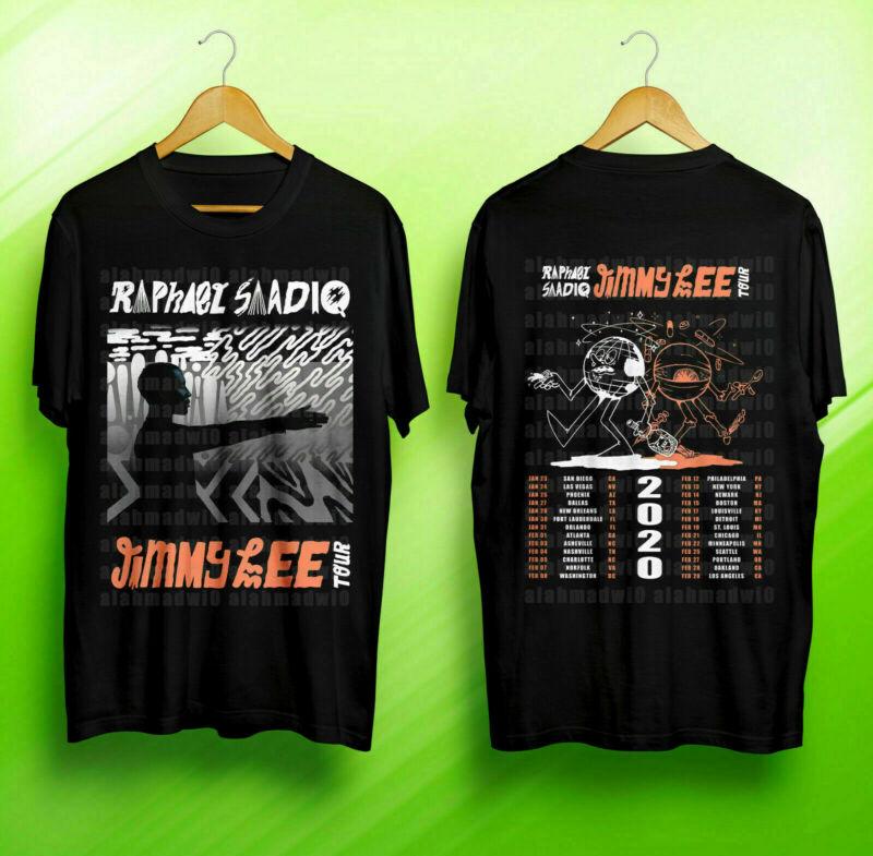 Limited Raphael Saadiq Jimmy Lee Tour 2020 Logo On Unisex Black T Shirt S-3XL