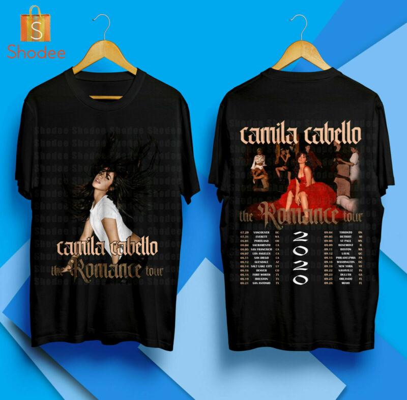 Camila Cabello The Romance Tour 2020 Merch Concert T-Shirt Unisex S-5XL