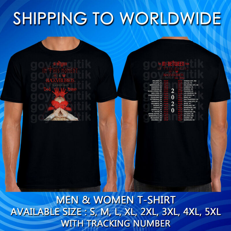 In This Moment Tour Dates 2020 Black Shirt Size S-5xl Kolong Free