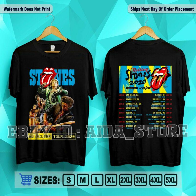 New The Rolling Stones No Filter Tour 2020 USA/CA T-Shirt Men/Women S-5XL