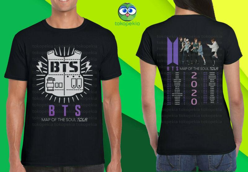KPOP BTS ( Bangtan Boys ) Map Of The Soul Tour 2020 Black Mens Womens Tshirt