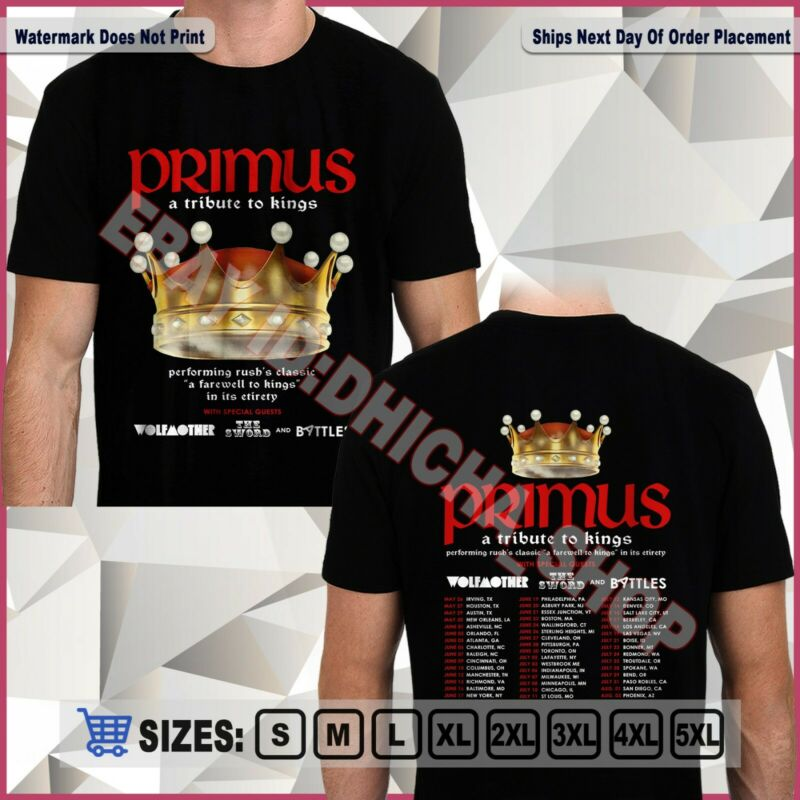 New Primus Band A Tribute To Kings Tour 2020 T-Shirt Size S-5XL