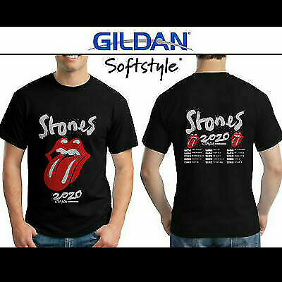 New The Rolling Stones T-Shirt No Filter Tour 2020 T-Shirt Men Black Size S-2XL