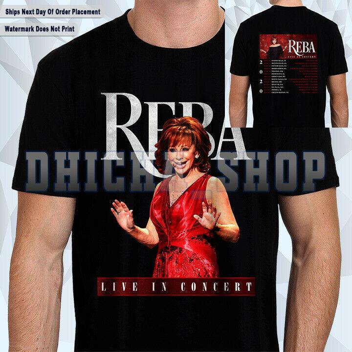 New Reba McEntire T-Shirt Live In Concert 2020 Tour Dates Shirt Size S-5XL