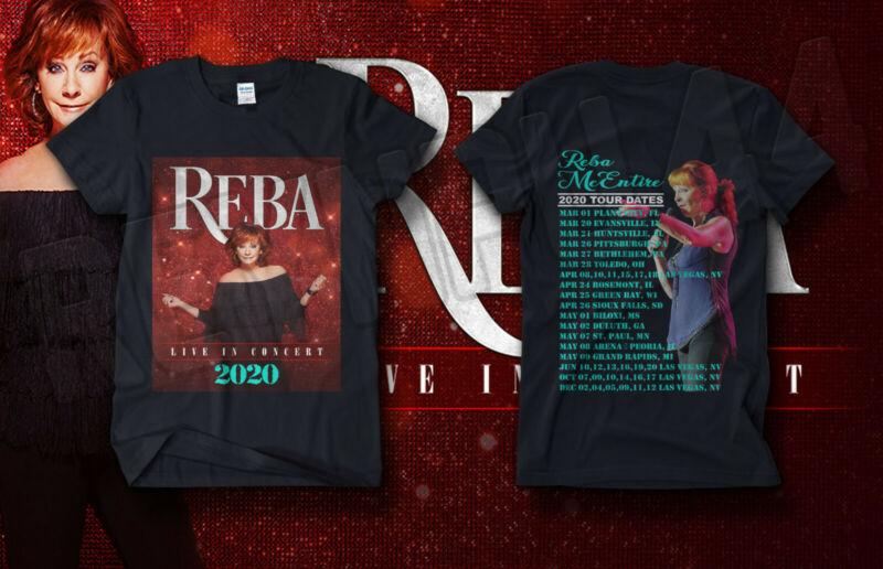 TX Reba McEntire Live In Concert Shirt Tour Dates 2020 GILDAN T-SHIRT #REBA