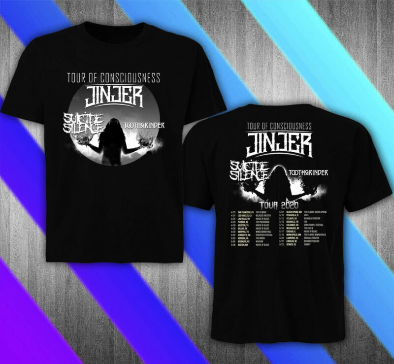 Jinjer US Tour 2020 with Suicide Silence T-SHIRT NEW ALL SIZE 100%COTTON