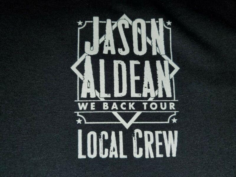 Jason Aldean We Back Tour 2020 Crew Shirt XL NWOT