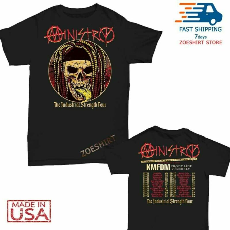 Ministry t Shirt Industrial Strength Tour 2020 T-Shirt Men Black
