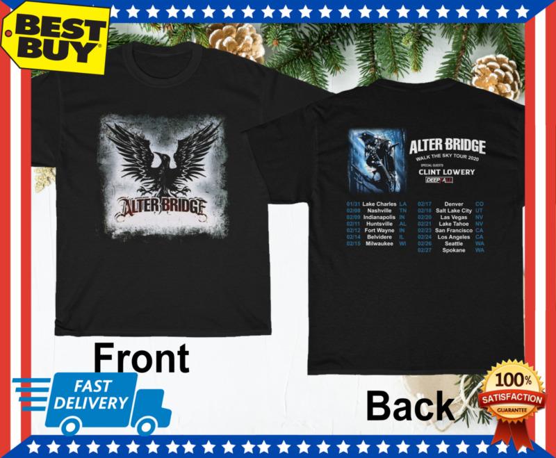 New Alter Bridge Shirt Walk the Sky Tour 2020 T-Shirt Gift Regular Size M-3XL