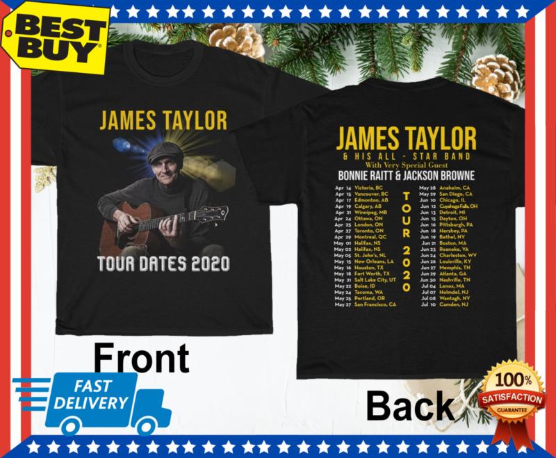 James Taylor Tour Dates 2020 T shirt Regular Size M-3XL for Men Women