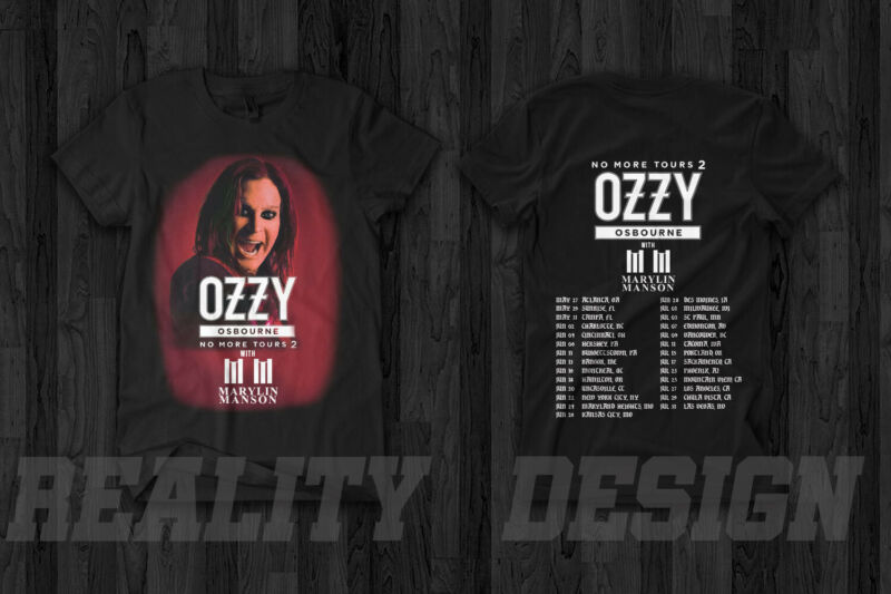 Ozzy Osbourne x Marilyn Manson No More Tour 2 T Shirt 2020 Black Label Society