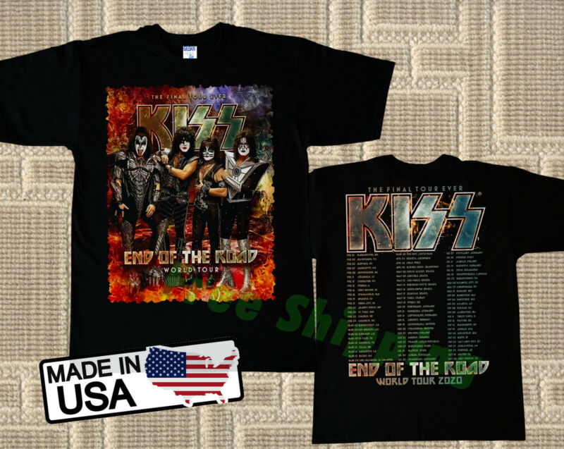 New Kiss Band Tshirt End Of The Road World Tour Date 2020 Tee M - 3XL