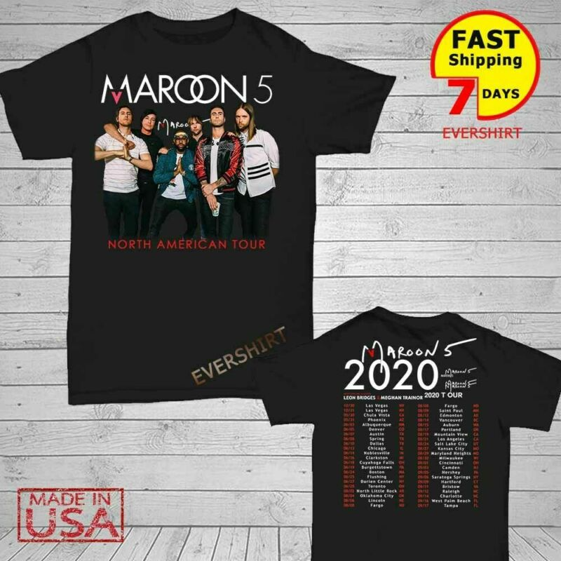 Maroon 5 t Shirt North American tour dates 2020 T-Shirt Men Black