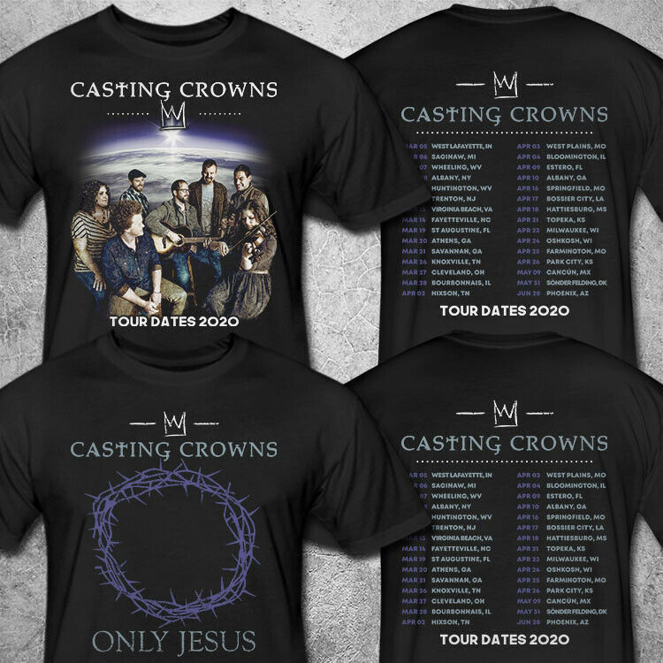 Casting Crowns Only Jesus Tour 2020 T shirt S-3XL MENS