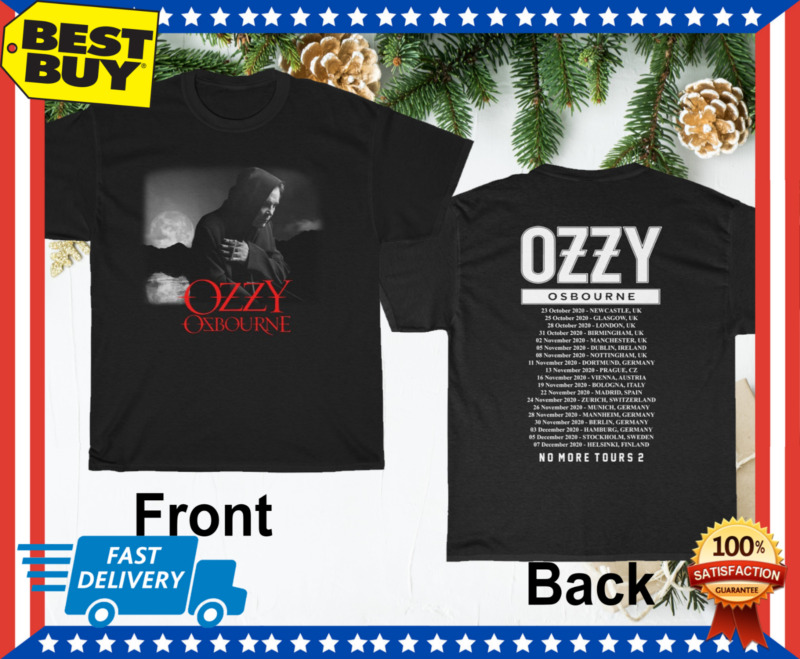 Ozzy Osbourne No More Tours 2 2020 T shirt M-3XL MENS