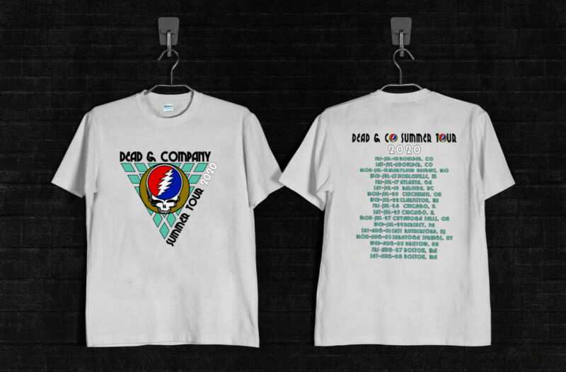 Dead and & Company Summer Tour 2020 Event white & yellow T Shirt grateful