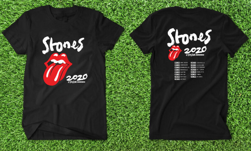 The Rolling Stones No Filter Tour USA/CA 2020 T shirt New