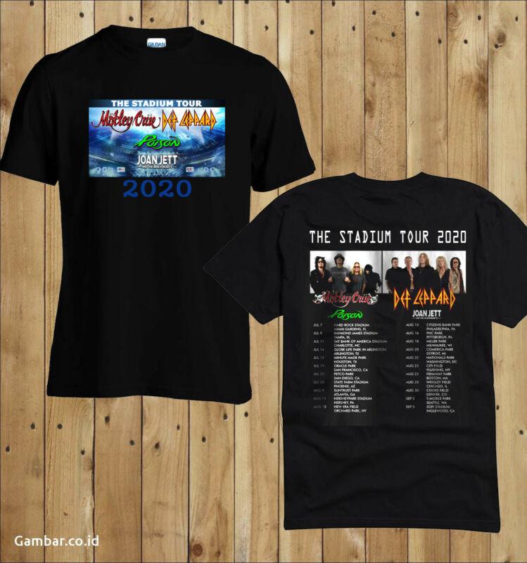 Motley Crue & Def Leppard The Stadium Tour 2020 New T-Shirt Gildan Heavy Cotton