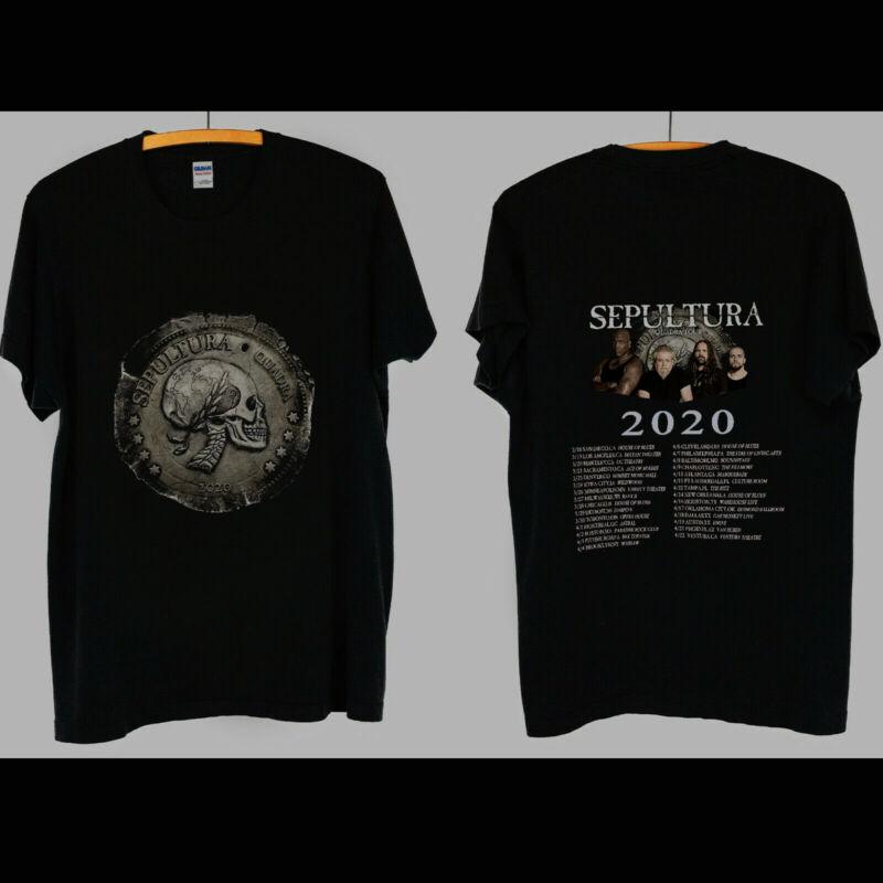 Hot new Sepultura Band Quadra Tour 2020 event Merch Tourdate Concert Shirt S-3XL