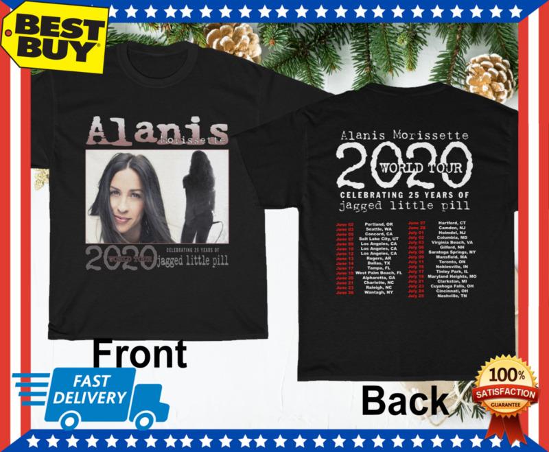 Alanis Morissette Shirt Tour 2020 Jagged Little Pill Black T-Shirt Size M - 3XL
