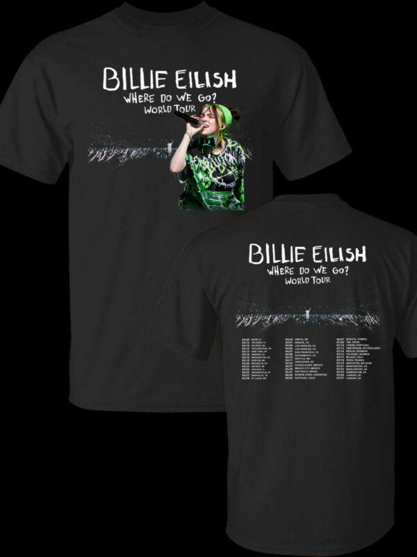 Billie Eilish Where Do We Go World Tour 2020 T-Shirt Black