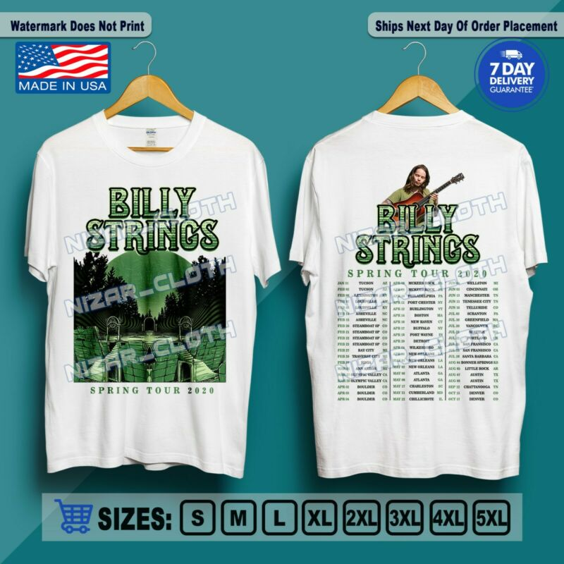 Billy Strings The Spring Tour 2020 with Full Dates T-Shirt Size S-5XL