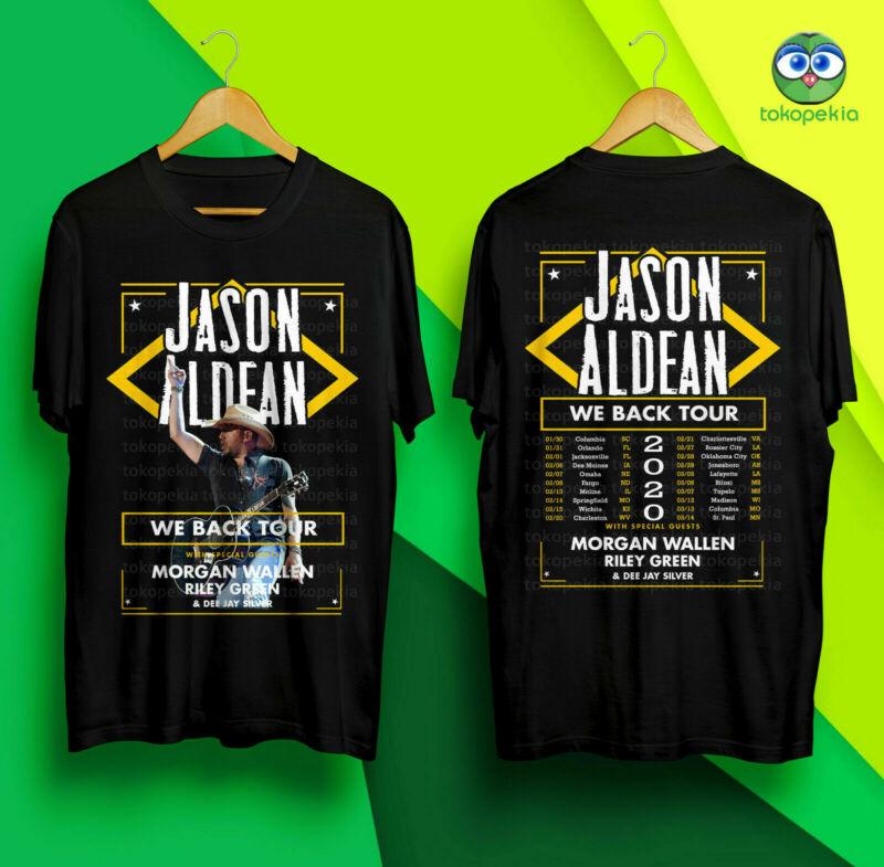 New JASON ALDEAN We Back Tour 2020 Black Tshirt