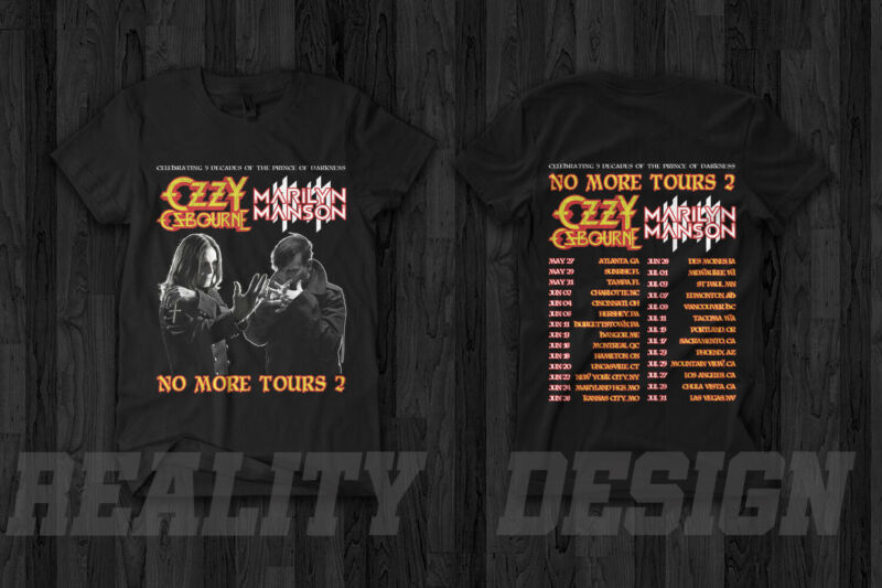 Ozzy Osbourne x Marilyn Manson No More Tour 2 T Shirt 2020 Prince of Darkness