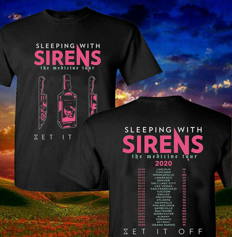 Sleeping With Sirens 2020 The Medicine Tour Concert T Shirt Mens S-3XL