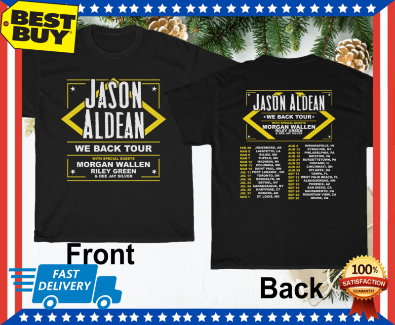 Jason_Aldean We Back Tour 2020 T shirt Regular Size M-3XL
