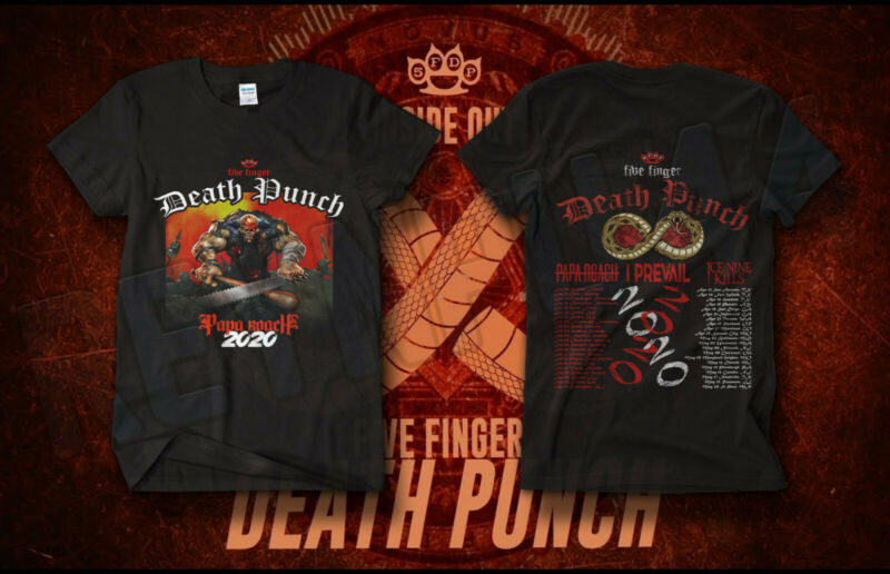 ROCK Five Finger Death Punch Tour Shirt Concert Dates 2020 GILDAN T-SHIRT