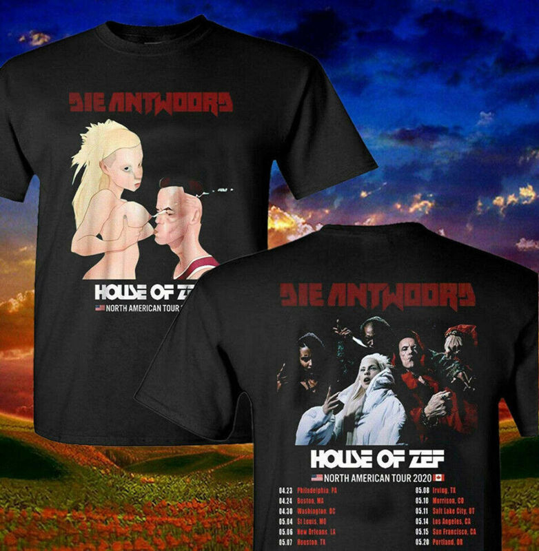 Shirt Die Antwoord House Of Zef North American Music Tour 2020 T-Shirt S-3XL