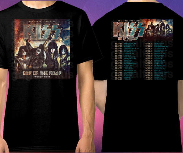 KISS END OF THE ROAD TOUR DATES 2020 BLACK US shirt for man| awesome gift| amazi