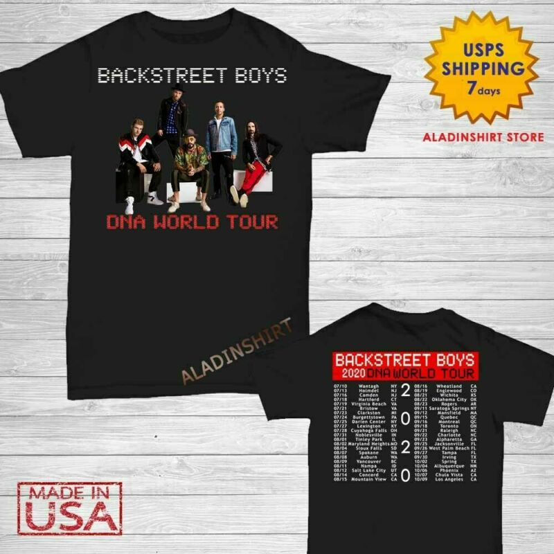 Backstreet Boys t Shirt DNA World Tour 2020 T-Shirt Men Black